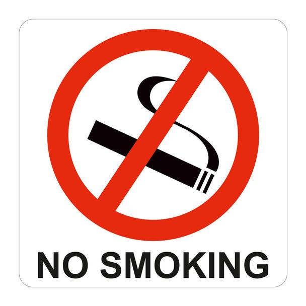 No Smoking Symbolic Sign - Printed on White ACP 150 x 150mm
