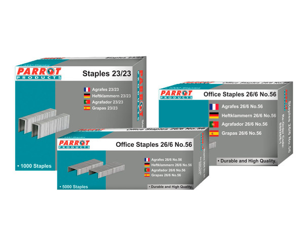 Staples Staple Size 26/6 - No.56 - Box of 1000 - 30 Pages