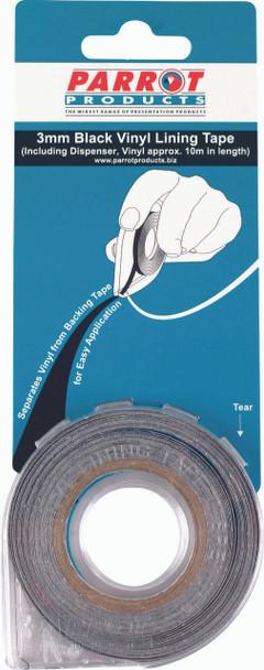 Vinyl Lining Tape 10 Meters - 3mm - Black