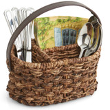 "Flatware Caddy - Oval, 10"" x 6 1/2"" x 5"", Bacbac Collection"