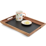 "Serving Tray, Acacia Wood, 19 1/4"" x 14 1/2"" x 2"""