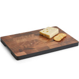 "Serving Tray with Black Accent, Acacia Wood, 15 3/4"" x 9 3/4"" x 1"""