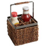 "Condiment Caddy, 6"" x 6"" x 9 1/2"", Metal Abaca Collection"