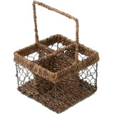 "Compartment Caddy, 5"" x 5"" x 7"", Wired Abaca Collection"