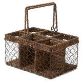 "Compartment Caddy, 12"" x 9"" x 6 1/4"", Wired Abaca Collection"