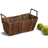 "Rectangular Shelf Basket, 12"" x 6"" x 6 1/2"", Abaca Collection"