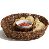 "Chip & Dip - Round, 13"" x 3"", Abaca Collection"