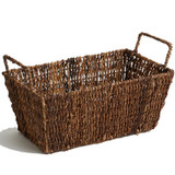 "Rectangular Shelf Basket, 14"" x 8"" x 7 1/2"", Abaca Collection"