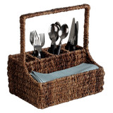 "Flatware Caddy - Rectangular, 12"" x 7"" x 12"", Abaca Collection"