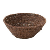 "Round Fruit Basket, 12"" x 6"", Abaca Collection"