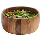 "Salad / Serving Bowl, Acacia Wood, 12"" x 5"", Calabash Collection"
