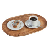 "Oval Serving Tray / Platter, Acacia Wood, 10"" x 15"""