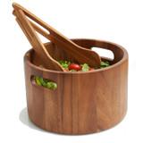 "Salad / Serving Bowl, Acacia Wood, 10 1/4"" x 6 1/2"", Surat Collection"