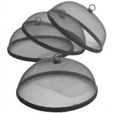 "Black Food Domes, Set of 4, 14"" x 5 1/2"""