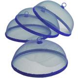 "Blue Food Domes, Set of 4, 14"" x 5 1/2"""