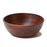 "Salad / Serving Bowl, Stained Rubberwood, 10"" x 4 1/2"", Chiang Mai Collection"