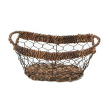 """Oval Boat Tray, 11 3/4"""" x 5"""" x 4"""", Wired Abaca Collection"""