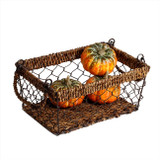 "Rectangular Basket, 9"" x 6 1/2"" x 4"", Wired Abaca Collection"