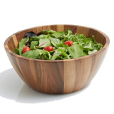 "Salad / Serving Bowl, Acacia Wood, 12"" x 5"", Bangkok Collection"
