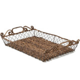 """Serving Tray - Rectangular, 18 1/2"""" x 12"""" x 4"""", Wired Abaca Collection"""