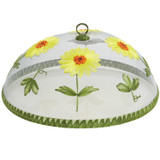 """Sunflowers Food Domes, Set of 4, 14"""" x 5 1/2"""""""