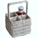 "Condiment Caddy, 6"" x 6"" x 10"", Whitewash Collection"