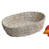 "Oval Basket, 13"" x 8"" x 3 1/2"", Whitewash Collection"