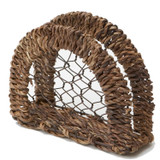 "Napkin Holder, 6"" x 2 1/2"" x 5 1/4"", Wired Abaca Collection"