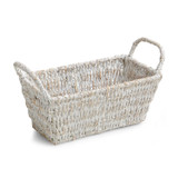 "Rectangular Shelf Basket, 12"" x 6"" x 5 1/4"", Whitewash Collection"