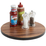 Lazy Susan with Black Accent, Acacia Wood, 13 3/4""