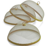 """Gold Food Domes, Set of 4, 14"""" x 5 1/2"""""""