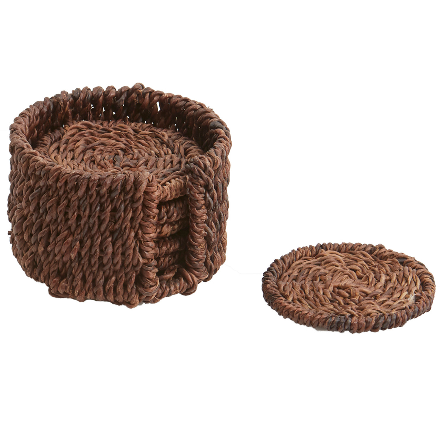 """Coaster - Round, 5 1/2"""" x 5 1/2"""", Abaca Collection"""