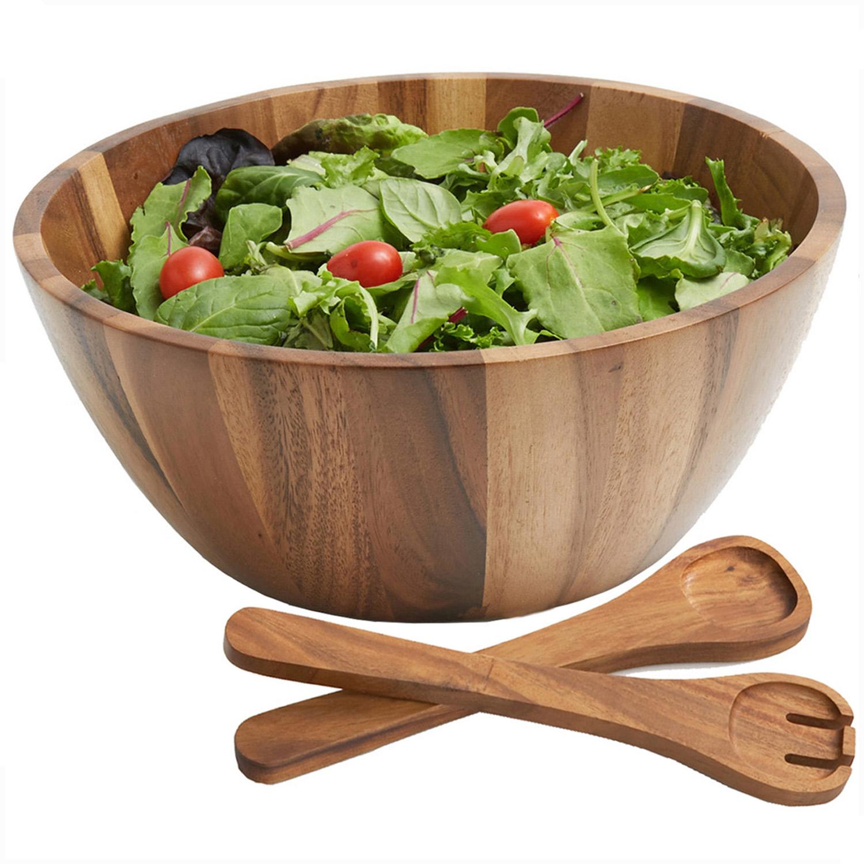 Acacia Wood Salad Bowls And Sets Woodard Charles