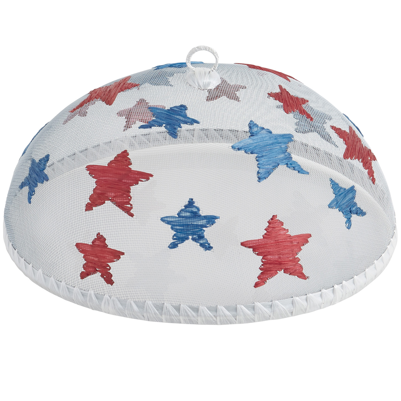 "Stars Food Domes, Set of 4, 14"" x 5 1/2"""
