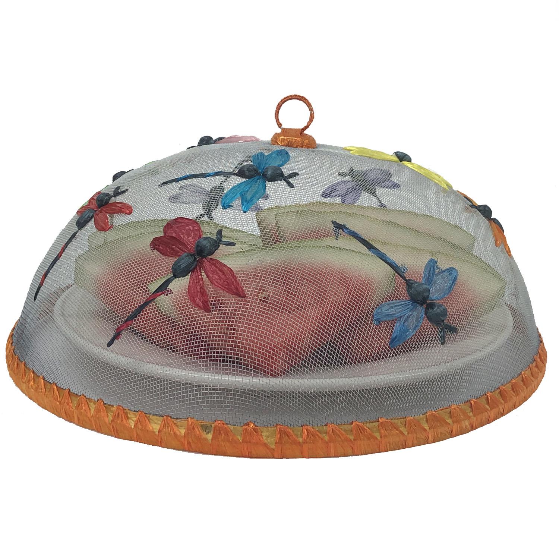 "Dragonflies Food Domes, Set of 4, 14"" x 5 1/2"""