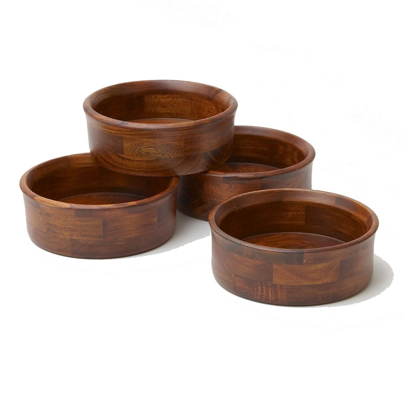 7 Piece Wood Salad Serving Bowl Set Woodard Charles
