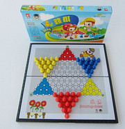 """Magnet Chinese Checkers Game for Travel - Game Board Size: 11.1"""" x 11.3"""", Package box size: 11.25"""" x 6.0"""" x 1.25"""""""