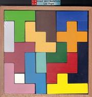 "Wooden 3-Dimentional Tetris Cube Puzzle - Wood Frame size : 7"" x 7 "" x 1"" (WX41)"
