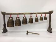 "China Chines Musiccal Instrument Model 精品仿古青铜器七龙编钟 民族打击乐器 model size : 15"" x 6"" (WXA3)"