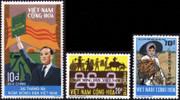 South Vietnam Stamps - 1974 , Sc 475-7 President Nguyen Van Thieu, Agriculture - MNH, F-VF (9V087)