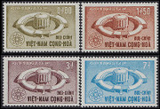 South Vietnam Stamps - 1964 , Sc 231 - 34, Atomic Energy - MNH, F-VF  (9V08C)