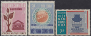 South Vietnam Stamps - 1966 , Sc 298-300 UNESCO - MNH, F-VF (9V08L)