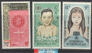 Laos Stamps - 1962 Scott 74-6, WHO Drive to eradicate Malaria, MNH, F-VF - (9A03Y)