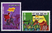 South Vietnam Stamps - 1973, Sc#445-6 Victory at Quang Tri - MNH, F-VF (9V09J)