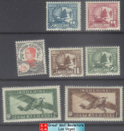 French Indochina Stamps - 7 stamps, MNH, F-VF (9A077)
