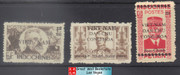 Vietnam Stamps - 1945-46, Sc 1L7,1L15, 1L44 Viet Minh Overprinted on Indochina Stamps - NGAI, Mint, F-VF  (9N0B1)