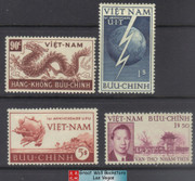 South Vietnam Stamps - 1952, Sc 17, 18, ITU, UPU, Bao Dai 39th Birthday - MNH, F-VF (9V0CV)