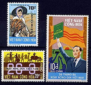 South Vietnam Stamps - 1974, Scott 475-7, 1974 Agriculture Day, MNH, F-VF  (9V0XQ)