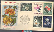 South Vietnam Stamps - 1965, Sc 261-5, Flowers, First Day Cover  (9V101)