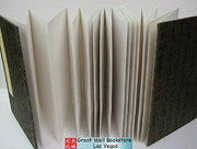 """Rice Paper Folding Chinese Book (Accordion Book) for Calligraphy/Painting/Photos/Wedding Signatures..... Size: 9.9"""" x 6.6""""  - Total 24 panels (see ima"""